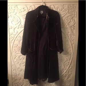 J.Jill velvet dark brown vintage inspired coat